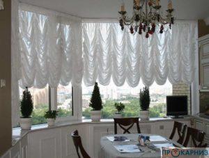 Французские шторы с электроприводом
