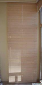 Горизонтальные деревянные жалюзи с электроприводом